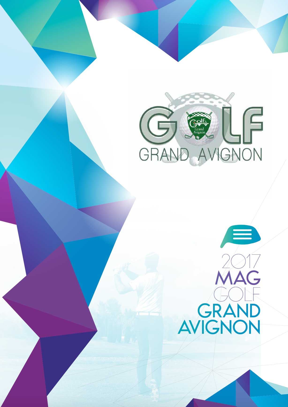 Couverture du magazine du Golf du Grand Avignon 2017